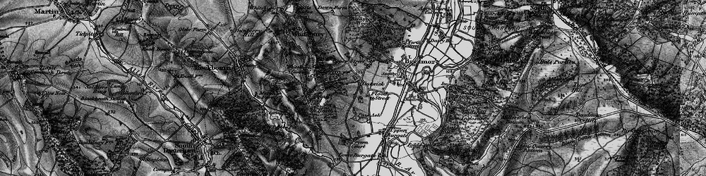 Old map of Whitsbury Common in 1895