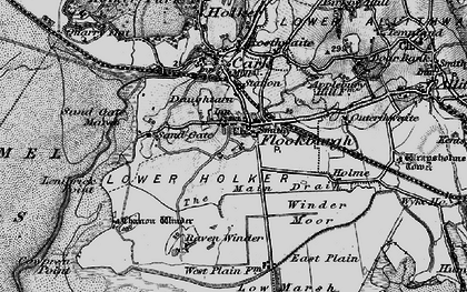 Old map of Flookburgh in 1898