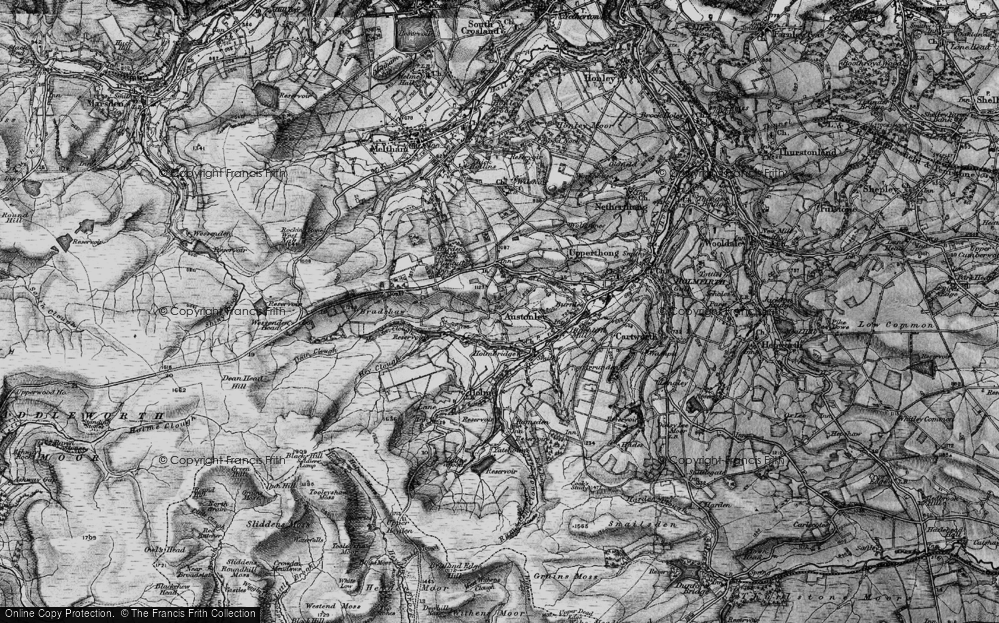 Old Map of Historic Map covering Wood Cottage in 1896