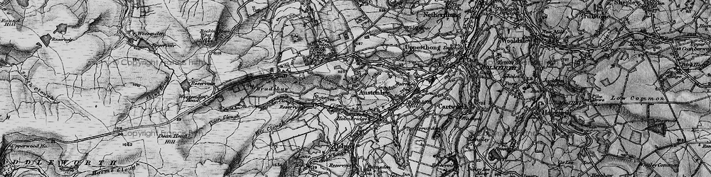 Old map of Wood Cottage in 1896