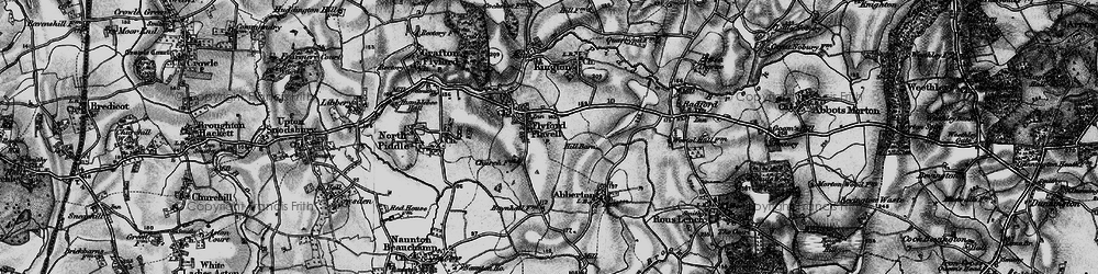 Old map of Wychavon Way in 1898