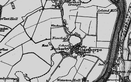 Old map of Fockerby in 1895