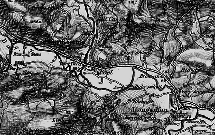 Old map of Y Fron in 1899