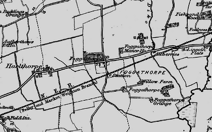 Old map of Allberries in 1898