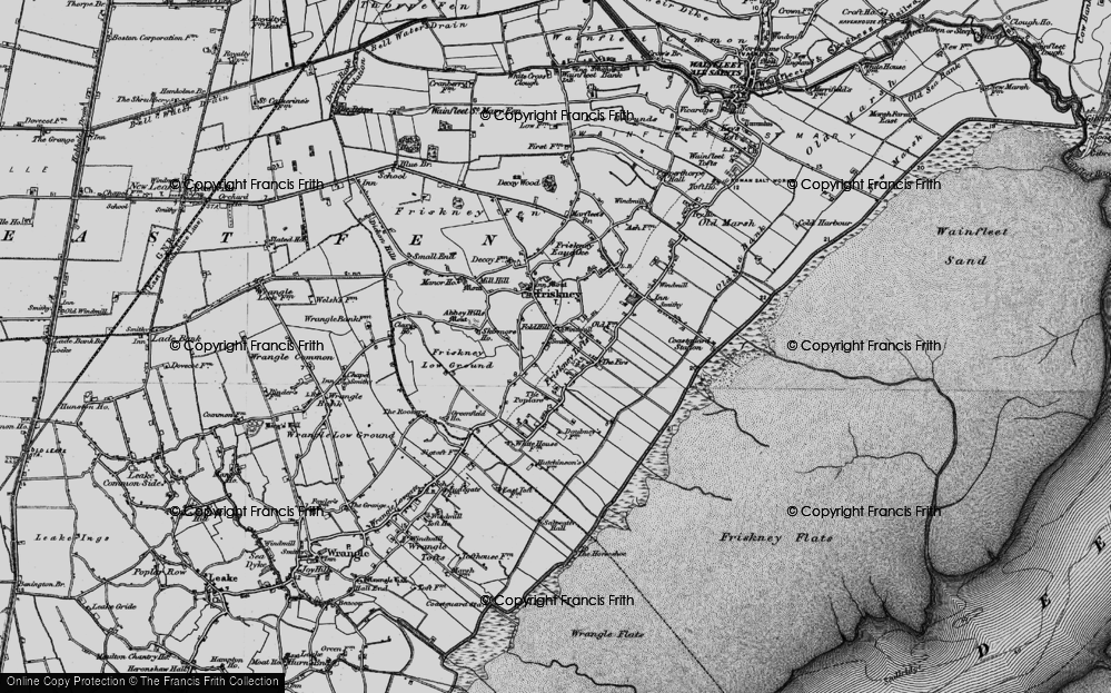 Old Map of Historic Map covering Abbey Hills in 1899