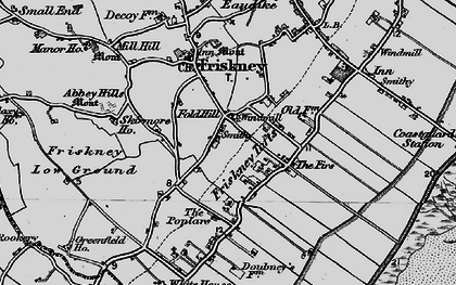 Old map of Abbey Hills (Earthworks) in 1899