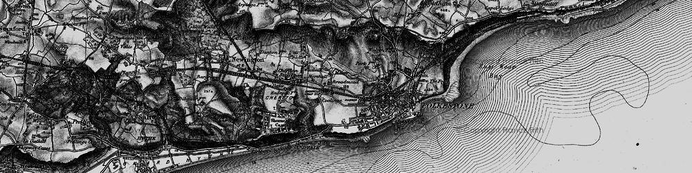 Old map of Folkestone in 1895
