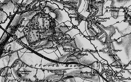 Old map of Aketon in 1898