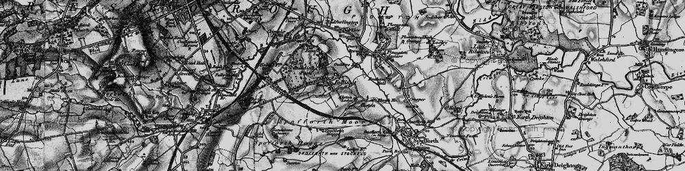 Old map of Aketon Lodge in 1898