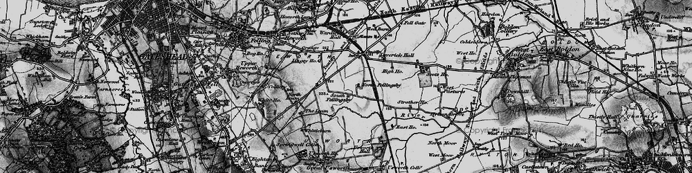 Old map of Wrakendike (Roman Road) in 1898