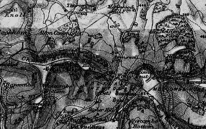 Old map of Ball Hill in 1898