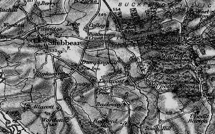 Old map of Backway in 1895