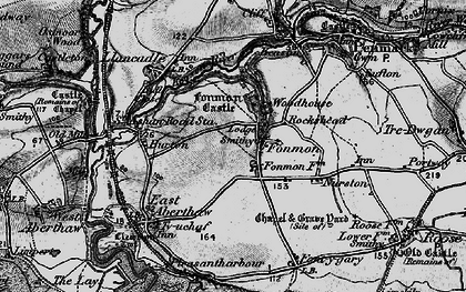 Old map of Fonmon in 1897