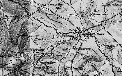 Old map of Fonston in 1895