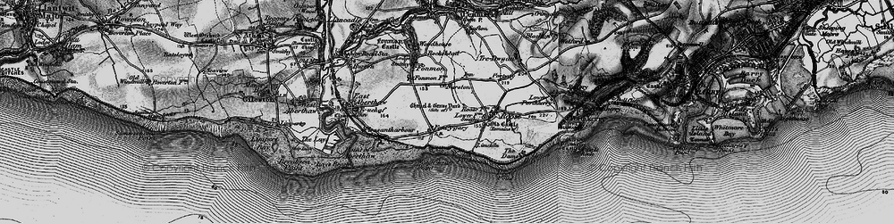 Old map of Font-y-gary in 1897