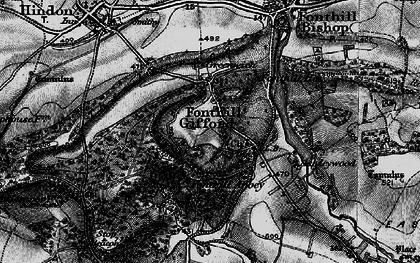 Old map of Fonthill Gifford in 1895