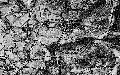 Old map of Fontmell Magna in 1898