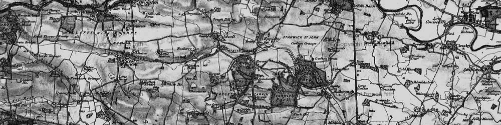 Old map of Forcett in 1897