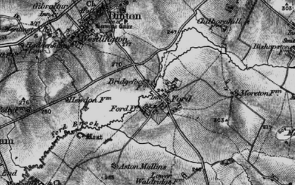 Old map of Aston Mullins in 1895