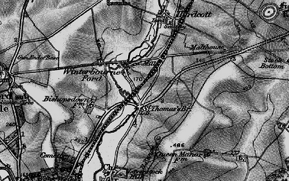 Old map of Ford in 1895