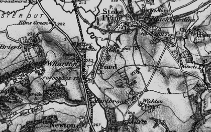 Old map of Wharton Court in 1899