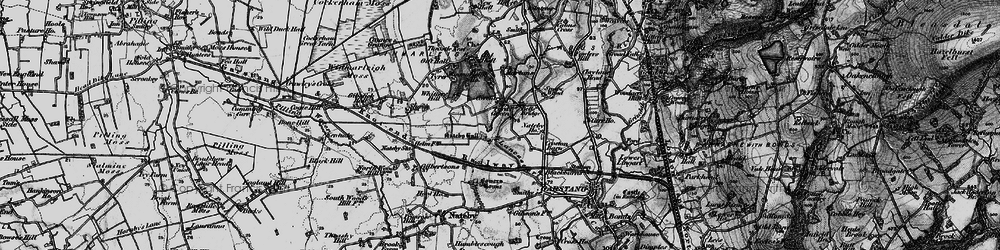 Old map of Whitters Hill in 1896