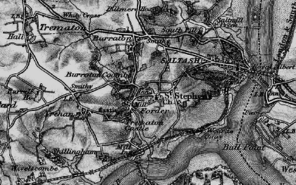 Old map of Forder in 1896