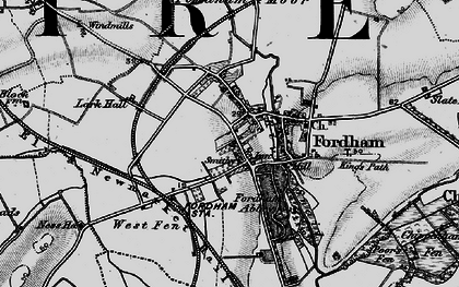 Old map of Fordham in 1898