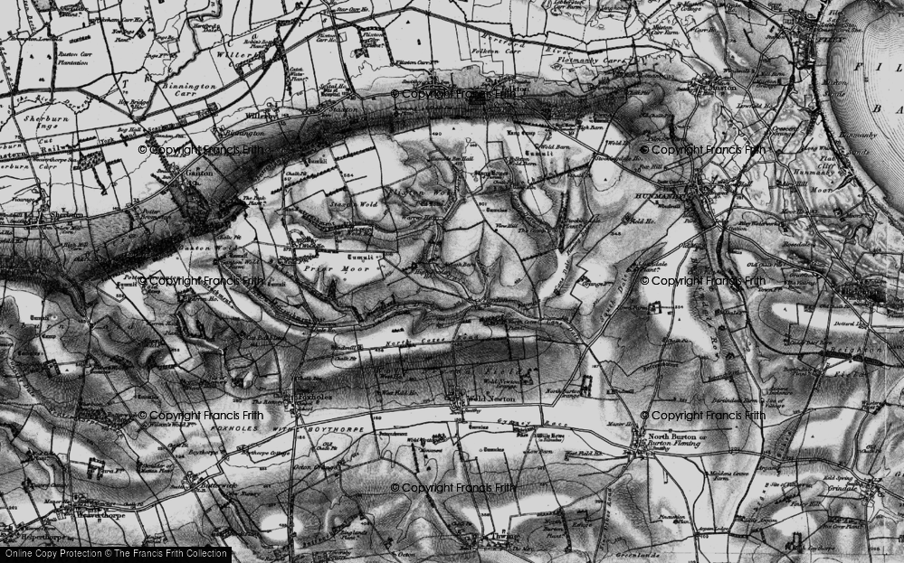 Old Map of Historic Map covering Lang Dale in 1898