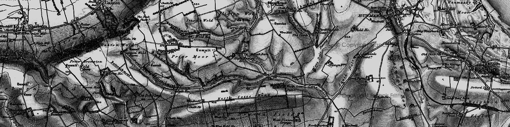 Old map of Lang Dale in 1898