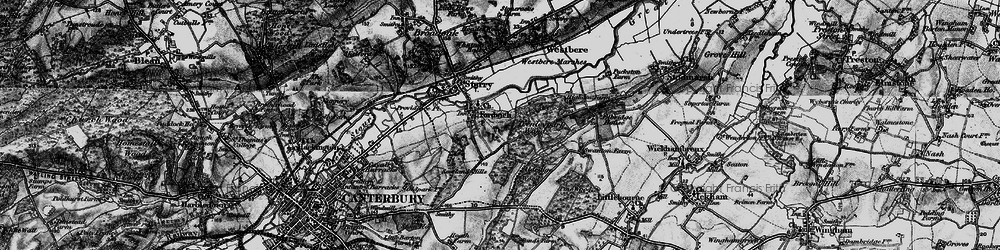 Old map of Fordwich in 1895