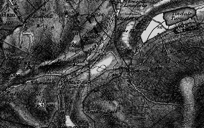 Old map of Tindale Fells in 1897