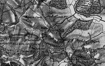 Old map of Forest Hill in 1895