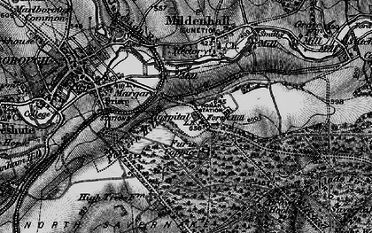 Old map of Forest Hill in 1898