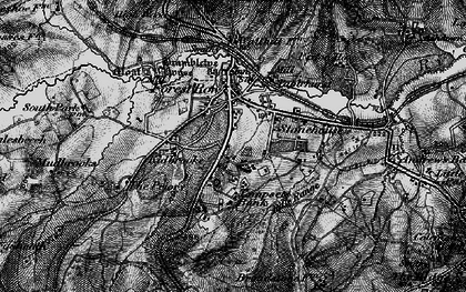 Old map of Forest Row in 1895