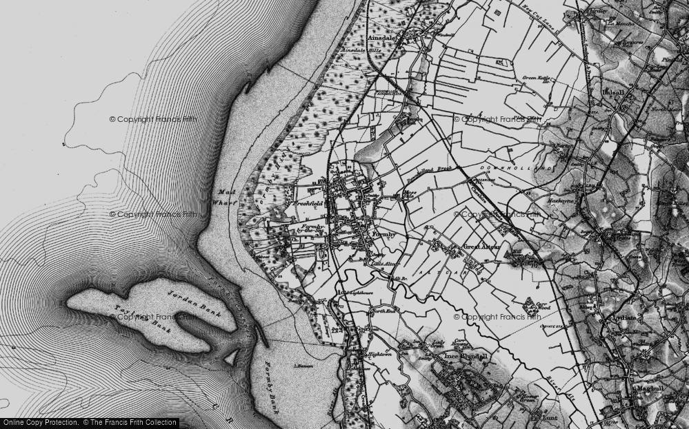 Old Map of Formby, 1896 in 1896