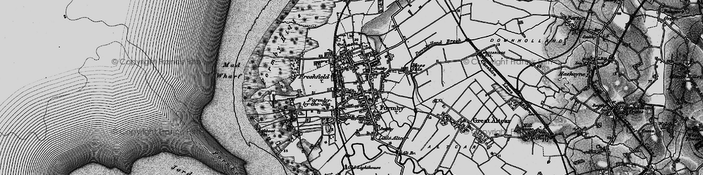 Old map of Formby in 1896