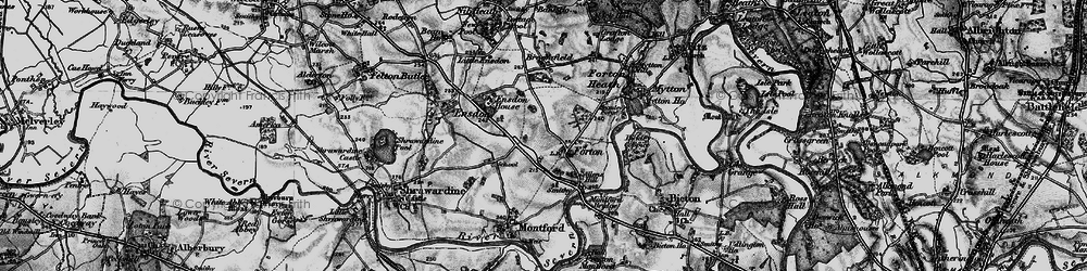 Old map of Forton in 1899