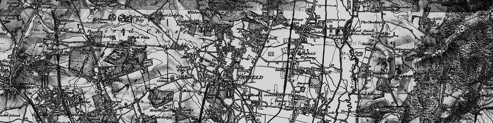 Old map of Forty Hill in 1896
