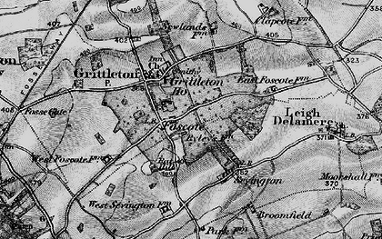 Old map of Foscote in 1898
