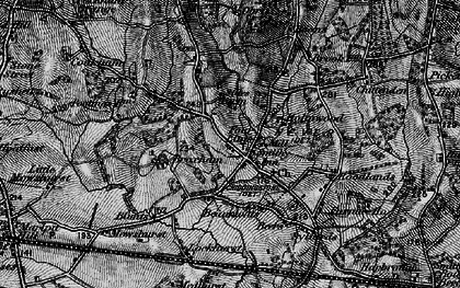 Old map of Four Elms in 1895