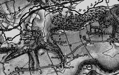 Old map of Fovant in 1895