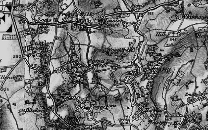 Old map of Leadon Court in 1898