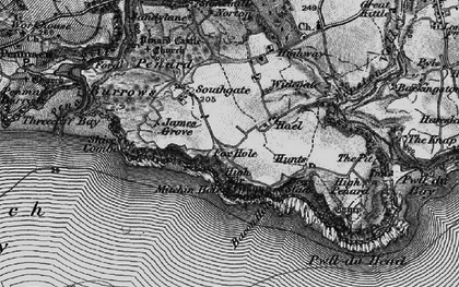 Old map of Bacon Hole in 1897
