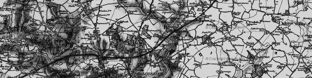 Old map of Ardleigh Reservoir in 1896