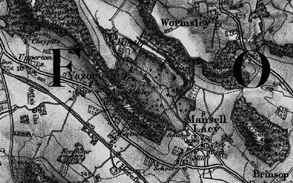 Old map of Bache Wood in 1898