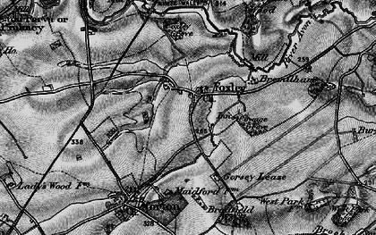 Old map of Foxley in 1898