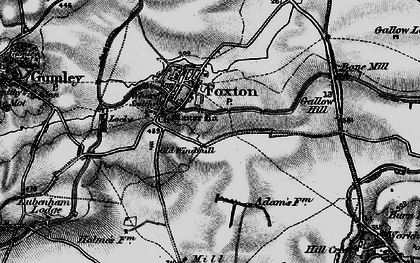 Old map of Foxton in 1898