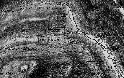 Old map of Yorkshire Dales National Park in 1898