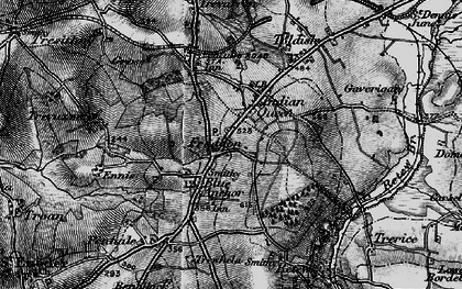 Old map of Fraddon in 1895